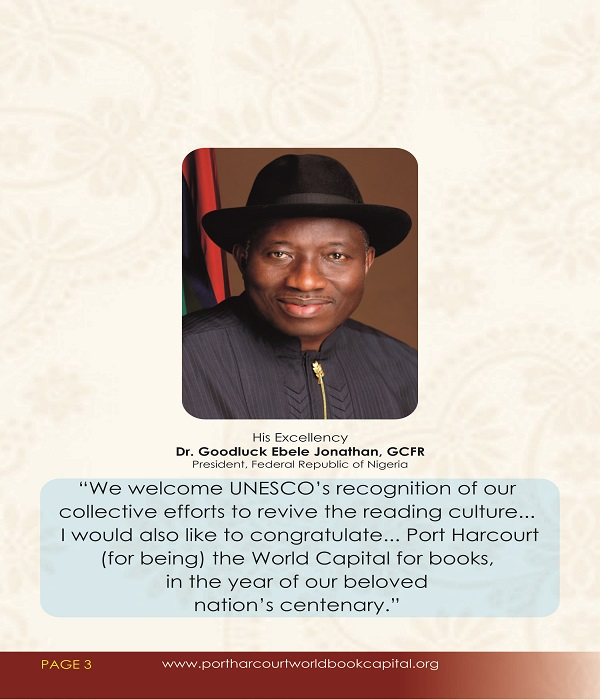 DIGNITARIES RESPOND TO PORT HARCOURT'S NOMINATION AS WORLD BOOK CAPITAL