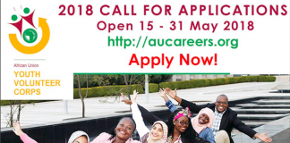 AFRICAN UNION YOUTH VOLUNTEER CORPS (AU-YVC): CALL FOR APPLICATIONS