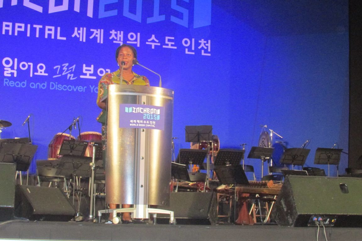 Mrs. Koko Kalango's Address At The Opening Ceremonies Of The Incheon WOrld Book Capital 2015
