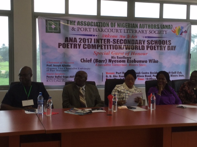 THE ASSOCIATION OF NIGERIAN AUTHORS (ANA) 2017 INTERSECONDARY SCHOOLS COMPETITION/WORLD POETRY DAY