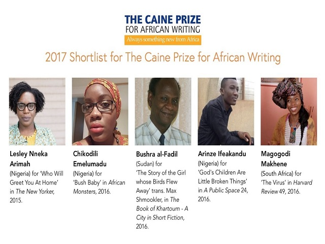2017 CAINE PRIZE SHORTLIST ANNOUNCED