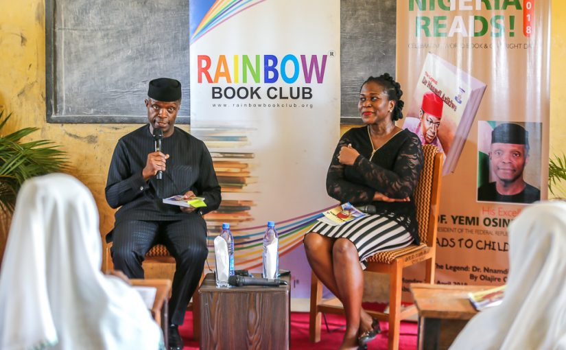 VICE PRESIDENT YEMI OSINBAJO READS TO CHILDREN ON WORLD BOOK DAY